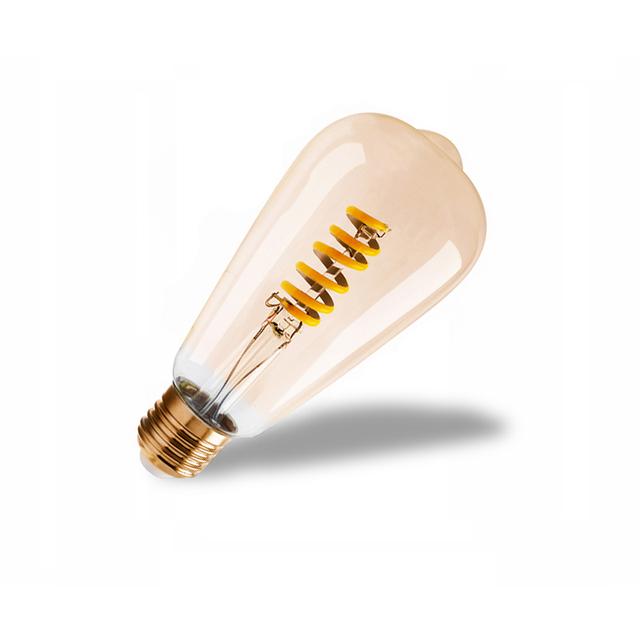E27/E26/B22 Edison Light Bulb, LED Filament Light Bulbs, ST64 Gold LED Lamp