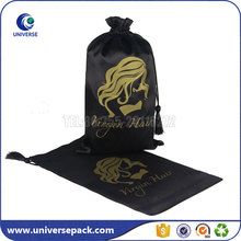 Custom size satin hair bags drawstring pouch various colors for choose