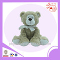2014 soft plush bear ,sitting cute toys with scarf stuffed plush