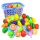 Kitchen Food Pretend Play Toy Cutting Fruit Vegetable Set kid Educational Toys