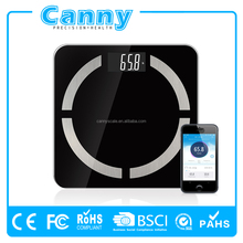 Wholesale high Precision Bathroom Bluetooth4.0 Muscle BMI Body Fat Balance Scale