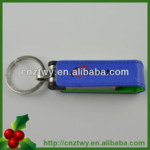 Optional colors promotional leather usb flash driver,leather usb .leather drive.Wholesale usb 2.0 flash disk, Cheapest USB 2.0