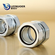 China Straight Squeeze Metal Connector for AD10~150mm Two Flex Hose