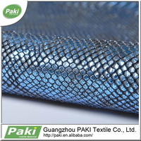 china supplier 1.6mm snake pattern pu coated leather fabric for making bags for bag