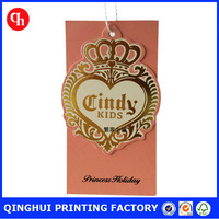 2016 gold foil shoes hang tag printing