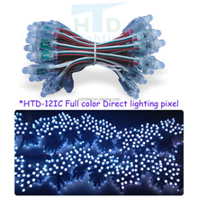 NEW IC!12mm LP9883 f8 rgb led pixel module,IP68 waterproof DC5V full color RGB string christmas LED light Addressable Pixel