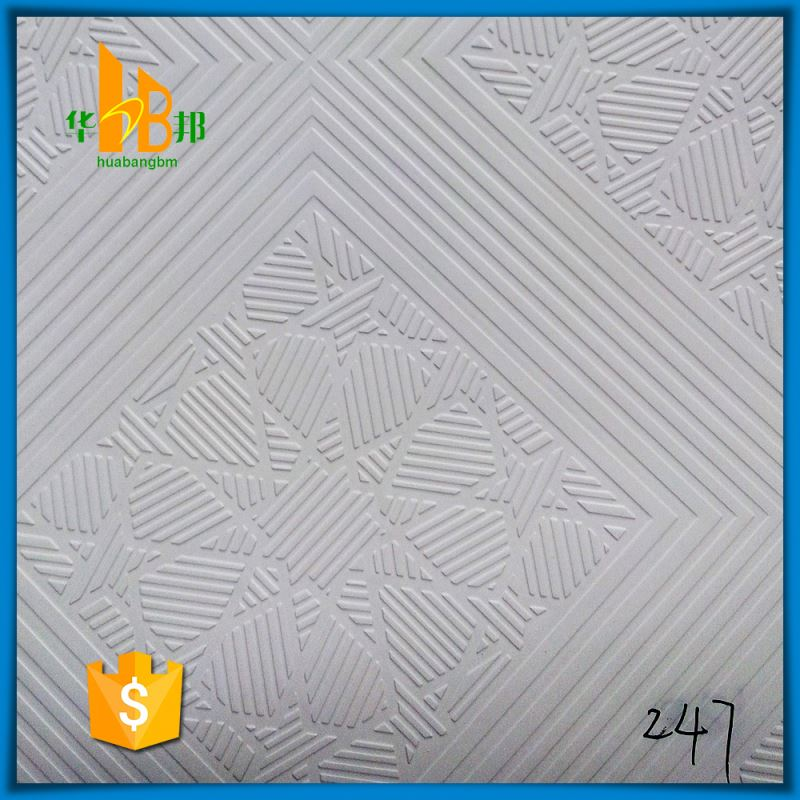 Tile Contact Ceiling Decorative Paper Pvc Film For Plaster Board