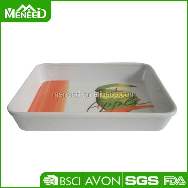 Apple personalized square melamine cheap serving trays