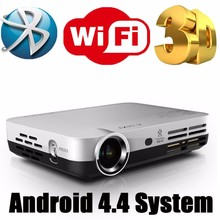 IMAX 3D Full HD Projectors LED DLP Android 4.4 Home Video Beamer TV Projector Dual WIFI Support 1080P for Business Meeting Movie