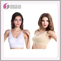 Ladies' sexy seamless sports bra tops/ seamless ahh bra/ seamless genie bra