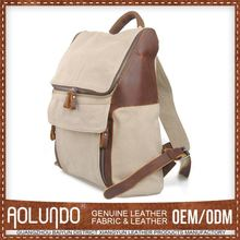 Hotselling Canvas Plain White Cotton Backpack