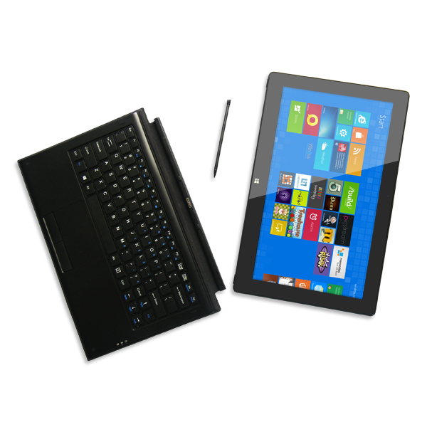 11.6Inch Windows8 tablet Intel Celeron 1037 ULV 4G 128G Electromagetic Dual Camera with keyboard Tablet