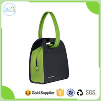 Insulated Zippered Neoprene Lunch Cooler Bag with Dual Carrying Handle Options