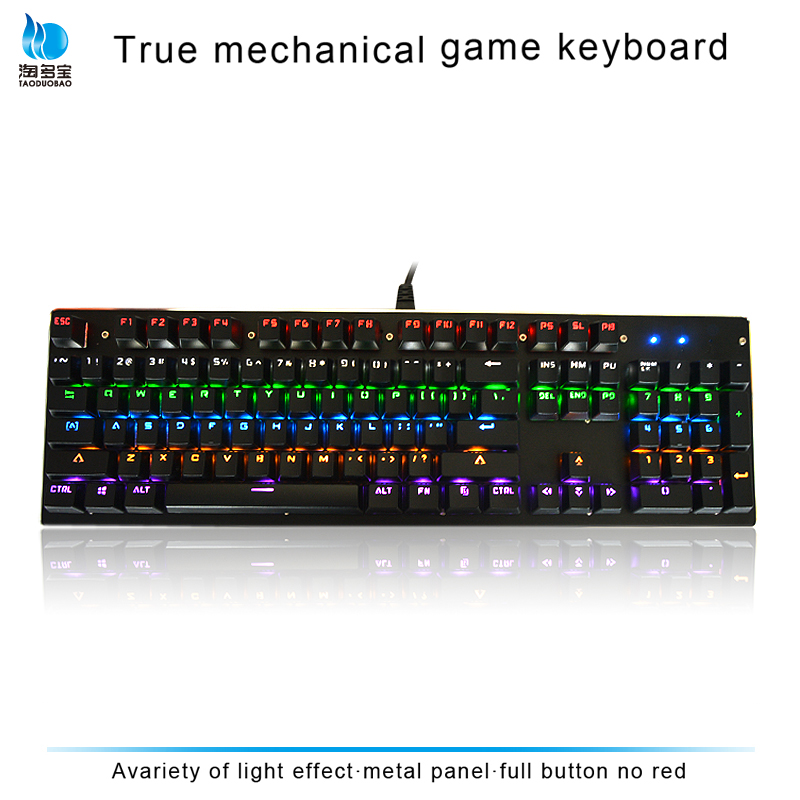 Mechanical gaming keyboard with big buttons and green keycap