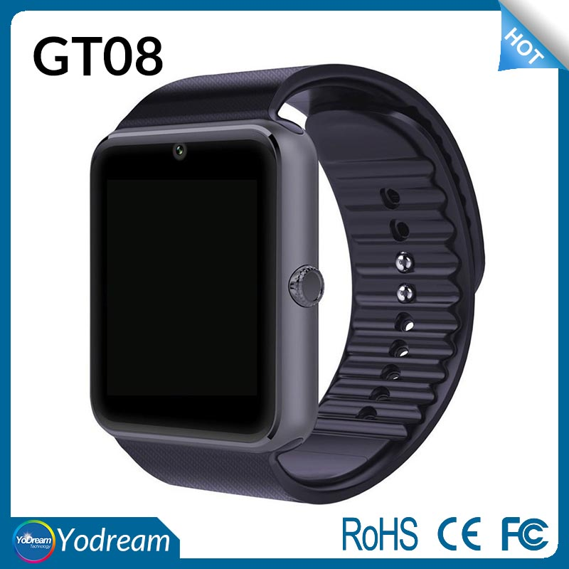 Android Smart Watch GT08 Clock With Sim Card Slot Push Message Bluetooth Connectivity Phone vs DZ09 Smartwatch
