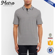 Wholesale Factory Custom Striped Pima Cotton-Jersey Polo T-Shirt For Men