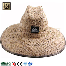 JAKIJAYI 2017 custom summer handmade natural wide brim straw farmer hats with logo