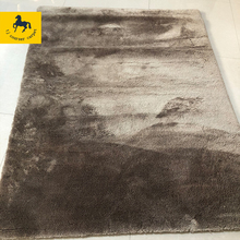 factory best selling plain design shiny polyester shaggy area rug carpet with cotton backing