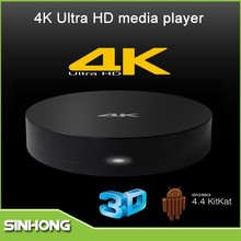 Full HD Media Player Android 4.4 Built in XBMC Free Internet TV Box