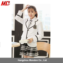 Japanese Girls school uniform manufacturers with shirt coat pleated skirt