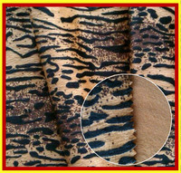 100% Polyester Short Hair Velour Knitting Fabric With Deer Skin Pattern For Lining,Sofa & Cushion