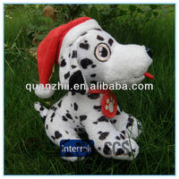 White christmas puppy plush toy