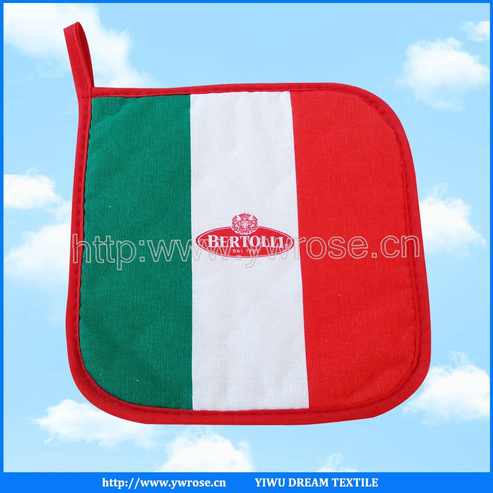 promotional high quality cotton oven mitt potholder