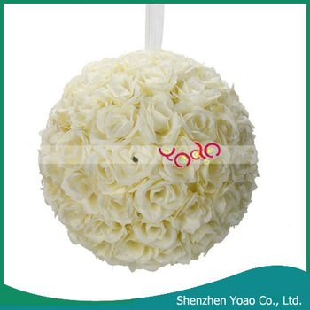 Wholesale ! 9.84 Inch Wedding Rose Ball Decoration Ivory White