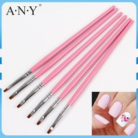 ANY Nail Art Beauty Care Cheap Wood Handle Wholesale Nail Supplies for Nail Art Brushes