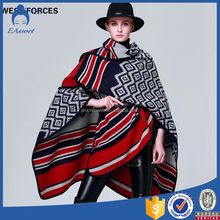 2016 winter new model streamlined ladies shawl ponchos and capes evening wraps