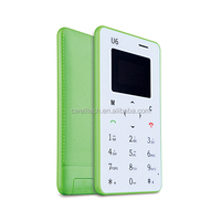 iCard U6 Mini Size Ultra Thin Card Size Mobile Phone GSM Quad Core Single SIM Card Simple Mobile Phone Without Camera
