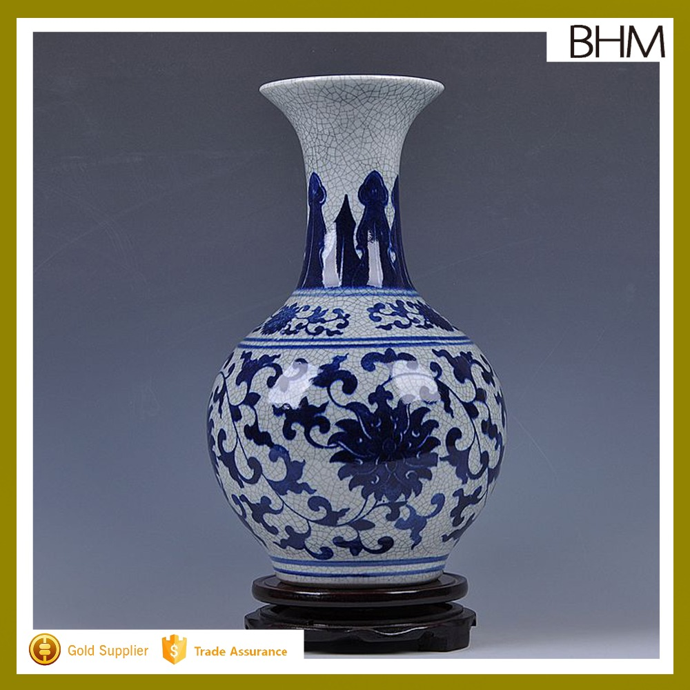 BHM2369 Ming and Qing Dynasty 5000 years vases history blue&white imitation antique vases for home decor