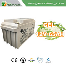 Gama Solar sealed deep cycle marine agm 12v 65ah battery made in China