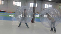 Inflatable bumper game/clear plastic inflatable bumper ball