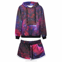wholesale 100% polyester bulk Classic star series sublimation custom hoodies and sweatshirts suit