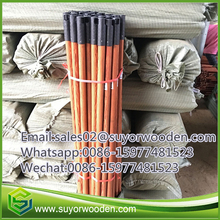 Latest design wood grain PVC broom wood handles for toliet brush