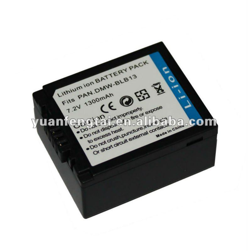 7.2V 1300mah original battery for camera For panasonic DMW-BLB13