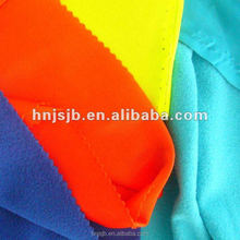 100% polyester velvet fabric material for school uniforms bags lining