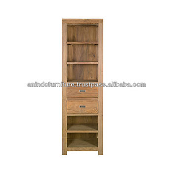 PSB Series Corner Open Display Cabinet with 2 Drawers