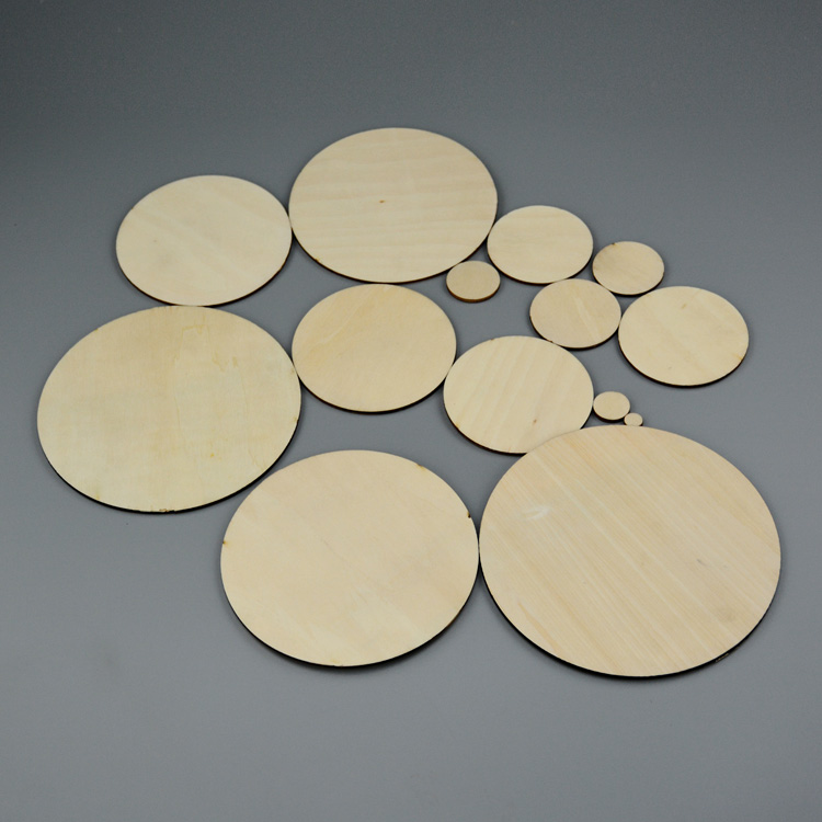 10mm to 300mm wooden circles laser cut wood round pieces