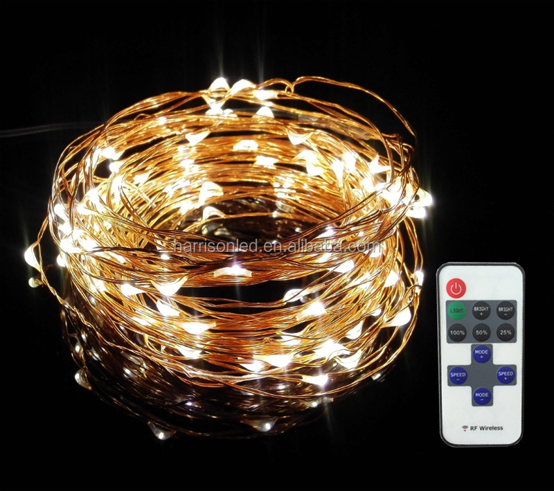 Fairy Moon Led String Lights : RF remote control invisible fairy moon copper silver wire LED Christmas string lights, View rf ...