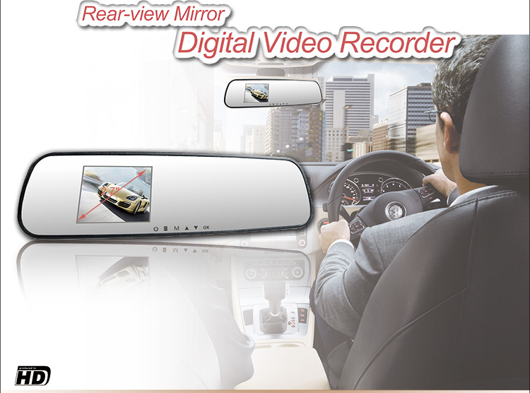 Light weight HD Car Camera Rear View Mirror infred light dash cam dvr traffic parking video recorder