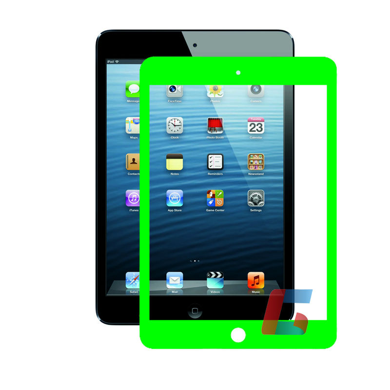 frame screen protective foil for ipad mini , Green one