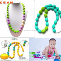 Fashion Accessory/2014 BPA Free Fashion Silicone Accessory Necklace for Baby Chewing