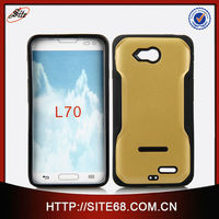 Acrylic tpu hybrid cell phone skin case for lg optimus l70