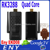 2015 ENY EKD08 Rockchip3288 Quad core XBMC EKD08 2GB/8GB 4k chrome cast smart tv stick