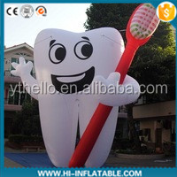 white inflatable tooth for advertising event