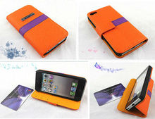 Newest slim sleek for iphone5 case with card holder popular design