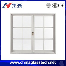 Environmental protecting profile doubel glazing glass aluminum alloy frame sliding indoor grill window