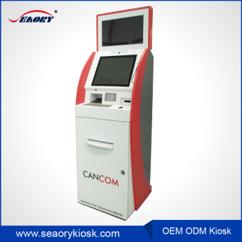 dual touch screen bill payment kiosk with rfid card reader